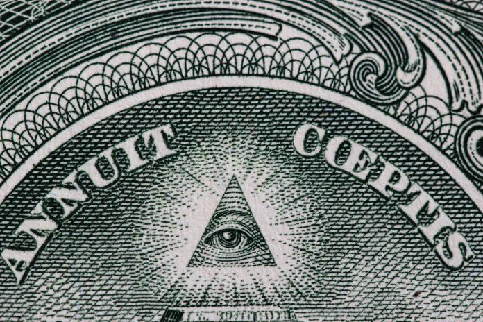 Billet d'un dollar, pyramide