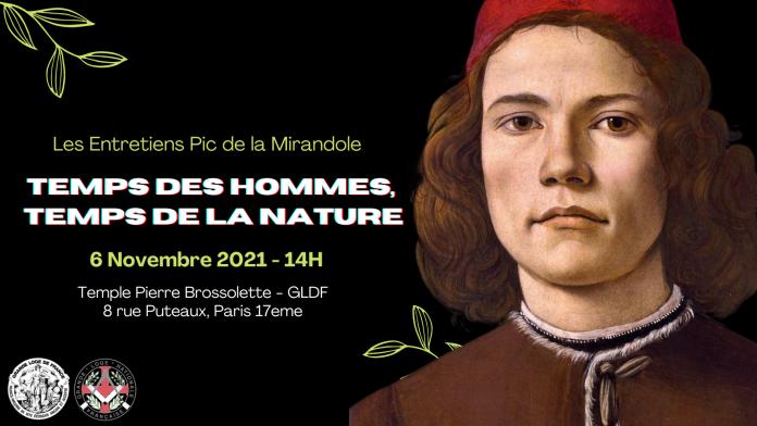ENTRETIENS PIC DE LA MIRANDOLE 2021 TEMPS DES HOMMES TEMPS DE LA NATURE