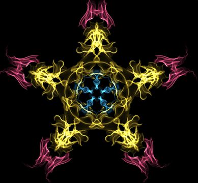 fractale, espace concentrique, rayonnement, limites