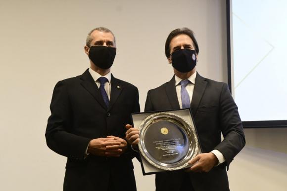 José Garchitorena et Luis Lacalle Pou - Photo : Marcelo Bonjour