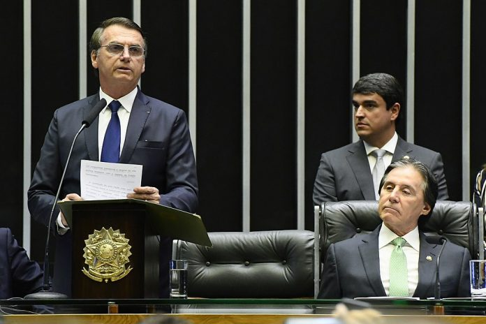 Jair Bolsonaro lors de son investiture