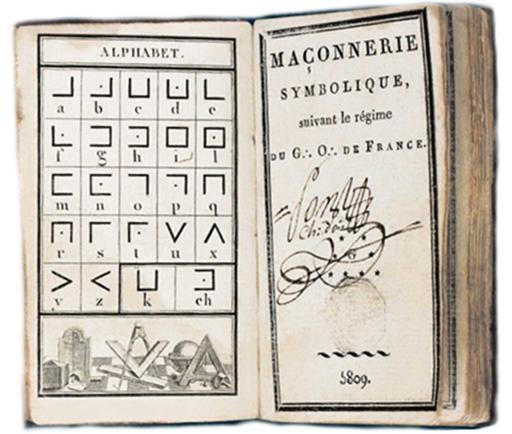 alphabet maçonnique, cryptage