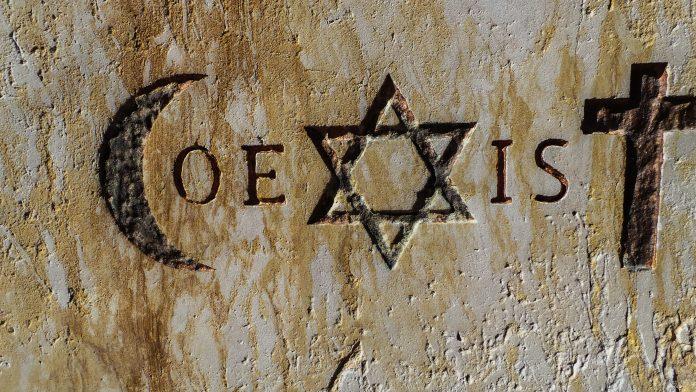 Symboles religieux, Islam, Christianisme, Judaïsme