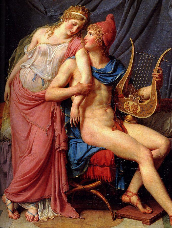 L'amour d'Hélène et Paris Jacques-Louis David