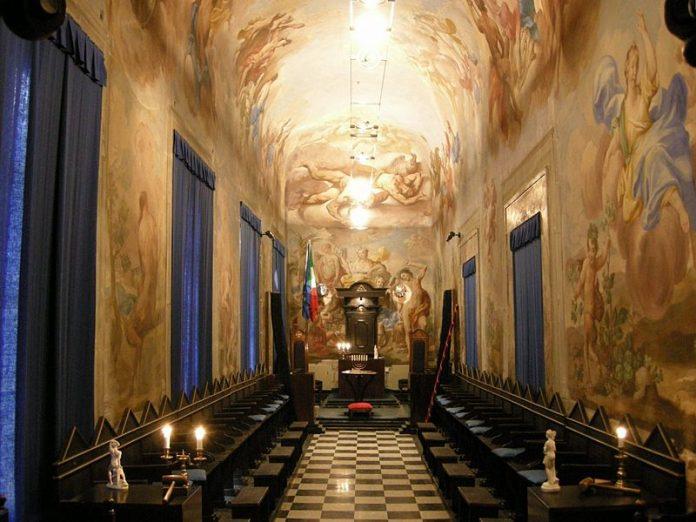 Temple d'une loge maçonnique italienne
