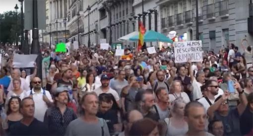 Manifestants en Espagne