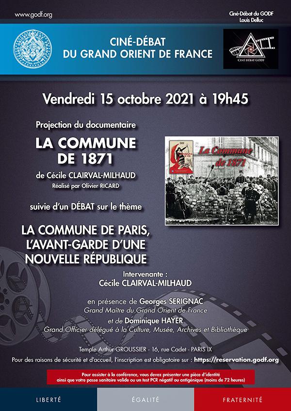 GODF CONFÉRENCE LA COMMUNE DE 1871