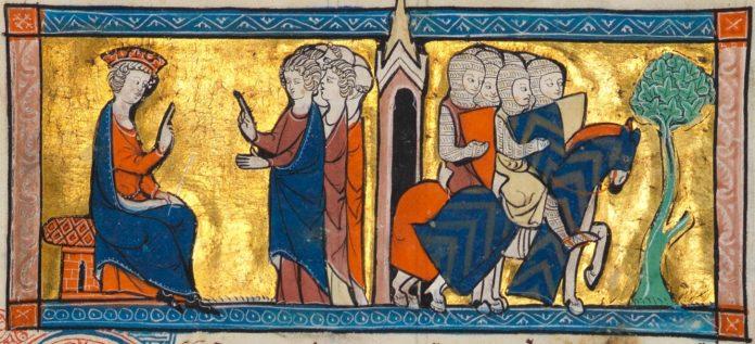 Départ des Templiers de Jérusalem. *Chronique d'Outremer